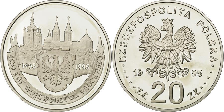 World Coins - Coin, Poland, 20 Zlotych, 1995, Warsaw, , Silver, KM:288