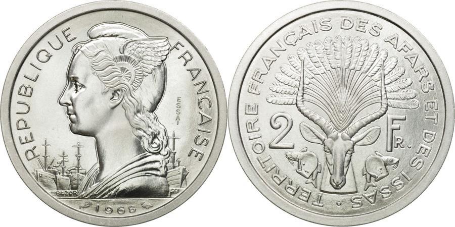 World Coins - Coin, FRENCH AFARS & ISSAS, 2 Francs, 1968, Paris, ESSAI, , Aluminium