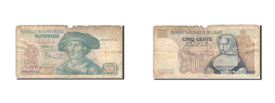 World Coins - Belgium, 500 Francs, 1961-1971, KM:135b, 1971-03-01, VG(8-10)