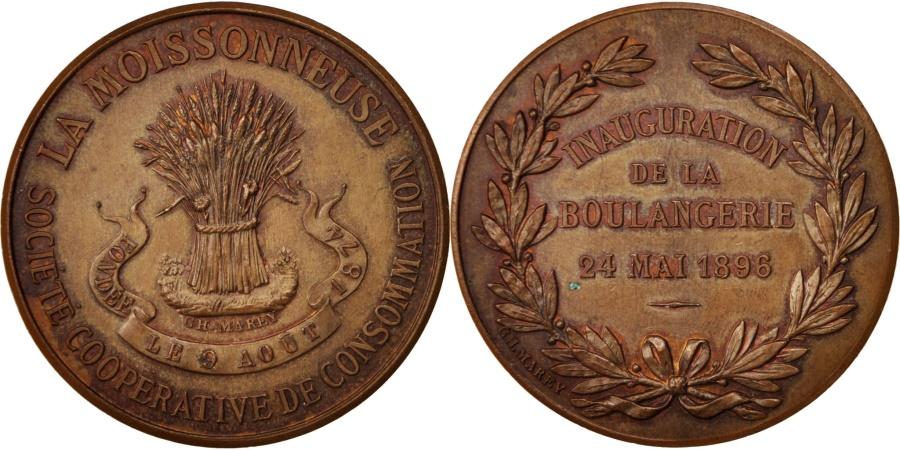 World Coins - France, Medal, La Moissonneuse, Société coopérative de consommation, Business