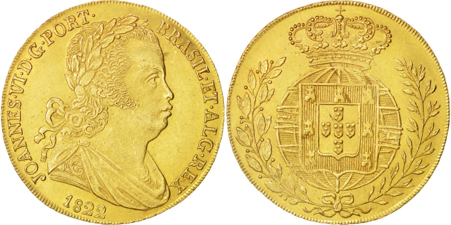 World Coins - Portugal, Jo, Peca, 6400 Reis, 1822, Lisbon, , Gold, KM:364