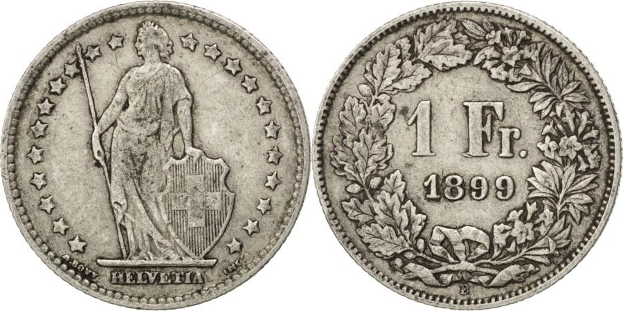 World Coins - SWITZERLAND, Franc, 1899, Bern, KM #24, , Silver, 23.2, 4.92