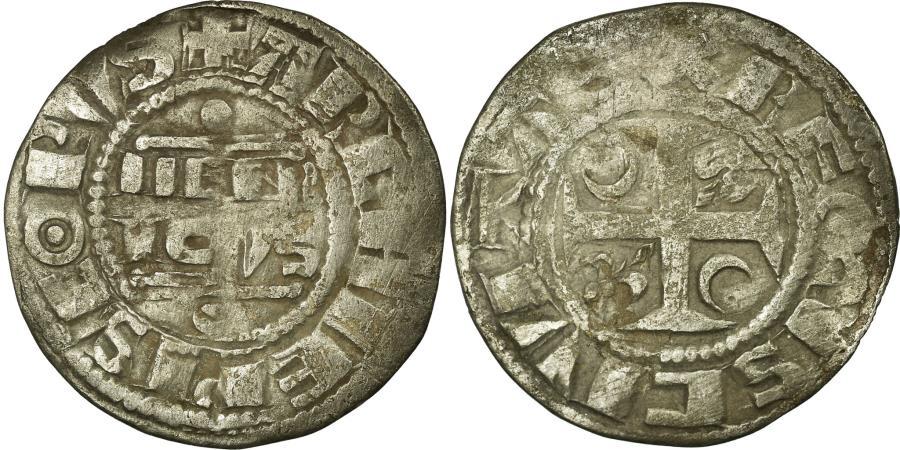 World Coins - Coin, France, Denarius, Reims, VF(30-35), Silver