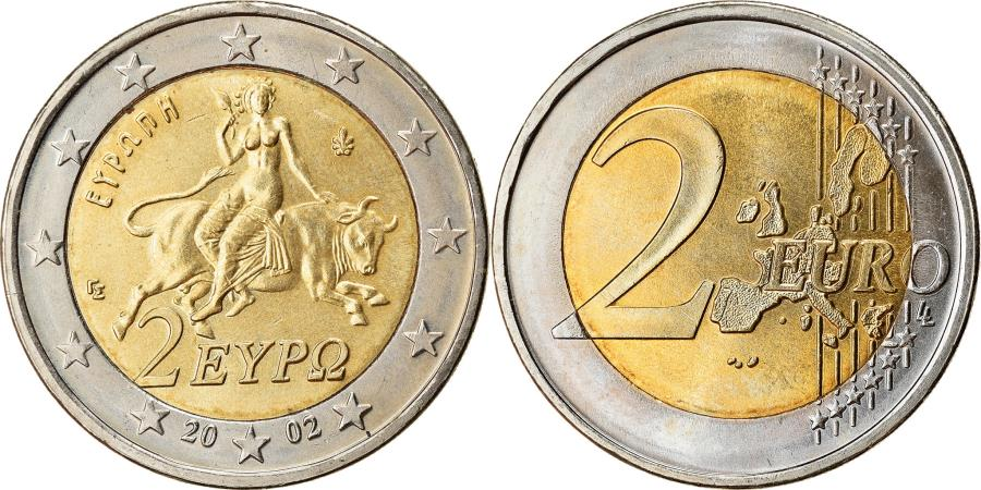 World Coins - Greece, 2 Euro, 2002, , Bi-Metallic, KM:188