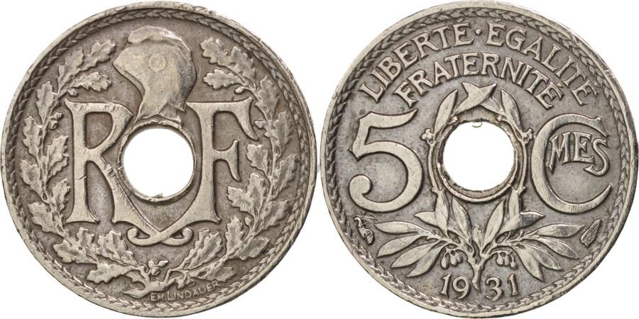 World Coins - France, Lindauer, 5 Centimes, 1931, Paris, , Copper-nickel, KM:875