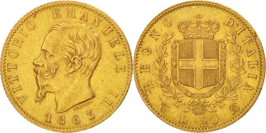 Italy vittorio emanuele ii 20 lire 1863 torino au 50 for Coin torino