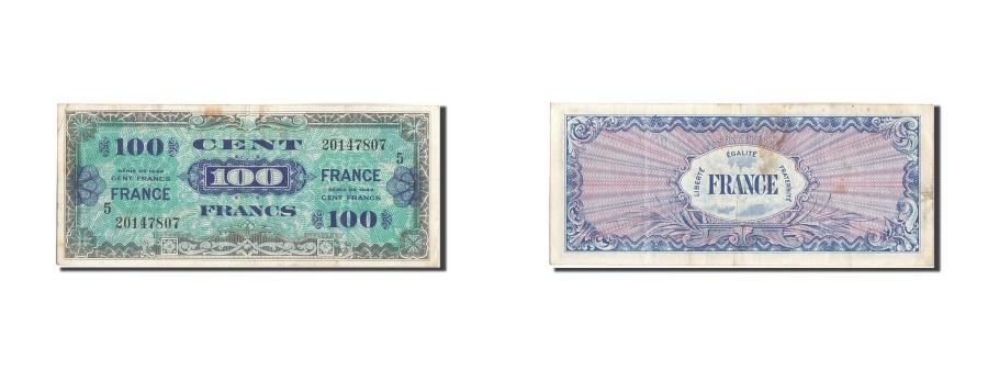 World Coins - France, 100 Francs, 1945 Verso France, 1945, KM:123c, Undated (1945), EF(40-4...
