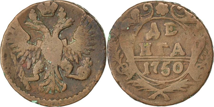World Coins - RUSSIA, Denga, 1/2 Kopek, 1750, KM #188, , Copper, 7.86