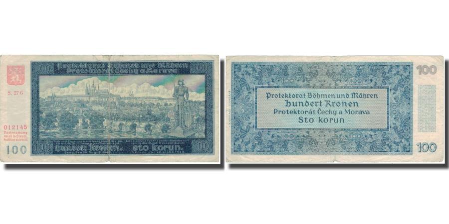 World Coins - Banknote, Bohemia and Moravia, 100 Korun, 1940, 1940, KM:7a, VF(20-25)