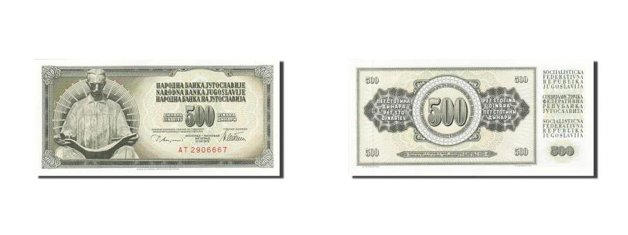 UNC YUGOSLAVIA 1978-500 DINARA Paper Money Banknote NIKOLA TESLA