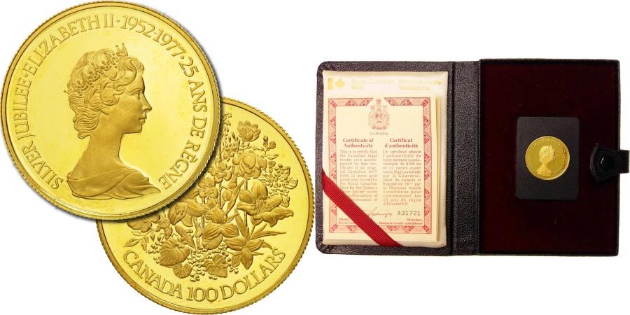 Canada, Elizabeth II, 100 Dollars, 1977, Royal Canadian Mint, Ottawa,