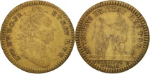 World Coins - France, Token, Royal, Régence de Philippe d'Orléans, Louis XV, VF(30-35)