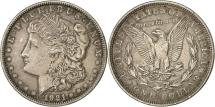 Us Coins - United States, Morgan Dollar, 1921, Philadelphia, AU(55-58), Silver, KM 110