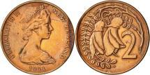 World Coins - New Zealand, Elizabeth II, 2 Cents, 1971, AU(50-53), Bronze, KM:32.1