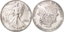 Us Coins - United States, Dollar, 1990, U.S. Mint, Philadelphia, MS(64), Silver, KM:273