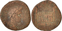 Ancient Coins - Augustus, As, Lyons, VF(20-25), Copper, RIC:230
