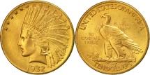 Us Coins - United States, Indian Head, $10, 1932, Philadelphia, MS(60-62), Gold, KM:130