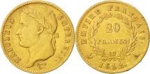 France, 20 Francs, 1812, Paris, EF(40-45), Gold, KM:695.1, Gadoury:1025