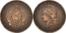 World Coins - Argentina, 2 Centavos, 1892, EF(40-45), Bronze, KM:33