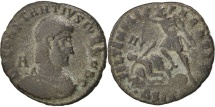 Ancient Coins - Constantius II, Maiorina, Siscia, VF(30-35), Copper, Cohen #47, 4.10