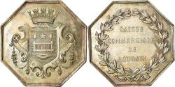World Coins - France, Token, Savings Bank, Caisse Commerciale de Roubaix, , Silver