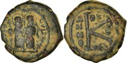 Ancient Coins - Coin, Justin II, Half Follis, 569-570, Thessalonica, , Copper, Sear:365