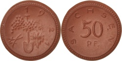 World Coins - Germany, 50 Pfennig, 1921, , Porcelain, 2.11