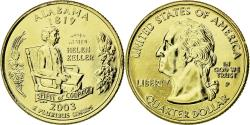 Us Coins - Coin, United States, Alabama, Quarter, 2003, U.S. Mint, , Gold plated