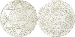 World Coins - Coin, Morocco, 'Abd al-Aziz, 1/2 Rial, 5 Dirhams, 1904, , Silver