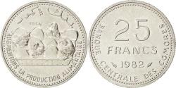 World Coins - COMOROS, 25 Francs, 1982, Paris, KM #E8, , Nickel, 3.98