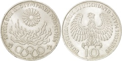 World Coins - GERMANY - FEDERAL REPUBLIC, 10 Mark, 1972, Karlsruhe, KM #135, , Silver,..