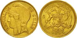 World Coins - Coin, Chile, 5 Pesos, 1895, , Gold, KM:153