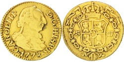 World Coins - Spain, 1/2 Escudo, 1778, Seville, Gold, KM:415.2