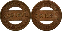 Us Coins - United States, Token, Porto Rico Railway Company