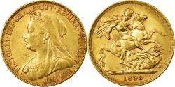 World Coins - Coin, Australia, Victoria, Sovereign, 1898, Melbourne, , Gold, KM:13