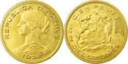World Coins - Coin, Chile, 100 Pesos, 1932, Santiago, , Gold, KM:175