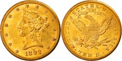 Us Coins - Coin, United States, Coronet Head, $10, Eagle, 1892, U.S. Mint, New Orleans