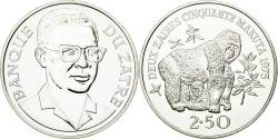 World Coins - Coin, Zaire, 2-1/2 Zaires, 1975, MS(63), Silver, KM:9