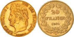 Ancient Coins - Coin, France, Louis-Philippe, 20 Francs, 1840, Paris, , Gold, KM:750.1