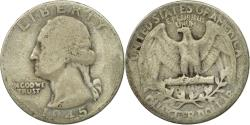 Us Coins - Coin, United States, Washington Quarter, Quarter, 1945, U.S. Mint, Philadelphia