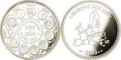 World Coins - France, Medal, 10ème Anniversaire de l'Euro des 11, 2009, , Silver