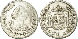 World Coins - Coin, Mexico, Charles III, 1/2 Réal, 1774, Mexico City, , Silver