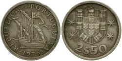 World Coins - Coin, Portugal, 2-1/2 Escudos, 1976, , Copper-nickel, KM:590