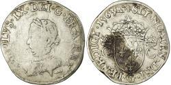 World Coins - Coin, France, Charles IX, Teston, 1563, Poitiers, Rare, , Silver