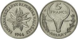 World Coins - Coin, Madagascar, 5 Francs, 1966, Paris, MS(60-62), Stainless Steel, KM:E8