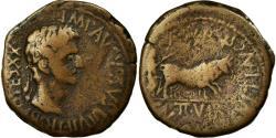 Ancient Coins - Coin, Spain, Augustus, As, Caesaraugusta, F(12-15), Copper