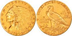 Us Coins - Coin, United States, Indian Head, $2.50, Quarter Eagle, 1909, U.S. Mint