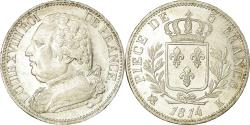 World Coins - Coin, France, Louis XVIII, Louis XVIII, 5 Francs, 1814, Bordeaux,