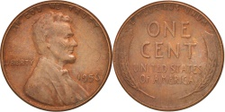 Us Coins - UNITED STATES, Lincoln Cent, Cent, 1956, U.S. Mint, KM #A132, , Brass,.