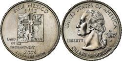 Us Coins - Coin, United States, New Mexico, Quarter, 2008, U.S. Mint, Philadelphia